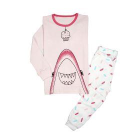 PIYAMA ANAK LENGAN PANJANG 4T TO 10T - Pink Shark Cupcake