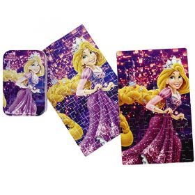 60pcs Wood Puzzle in a Tin - Rapunzel