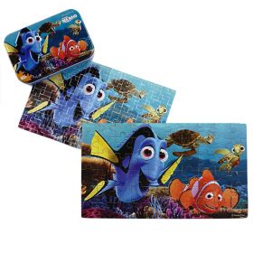 60pcs Wood Puzzle in a Tin - Finding Nemo