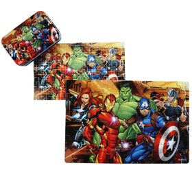 60pcs Wood Puzzle in a Tin - Avengers