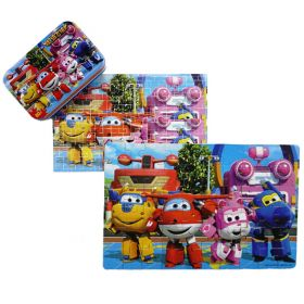 60pcs Wood Puzzle in a Tin - Super Wings