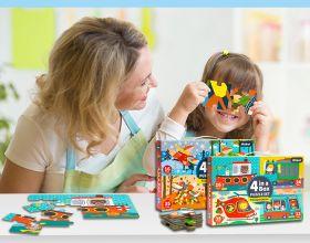 Mainan Edukasi Puzzle in a Box 4 in 1
