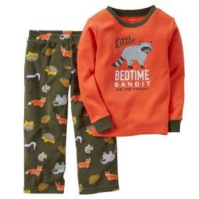 Carter's Pajamas 2 Piece Katun Ribbed Fleece 1T-6T - Bedtime Bandit