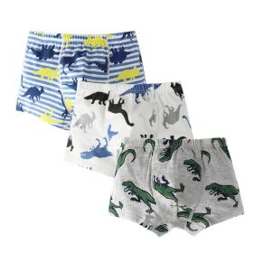 BOXER ANAK LAKI-LAKI / BOY BOXER (3 PCS SET) - CLOSED DINO STRIPES