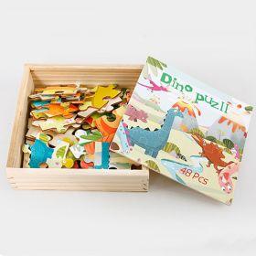 Mainan Edukasi Puzzle kayu - Dinosaurus