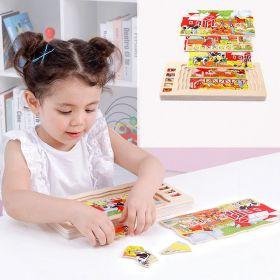 Onshine Mainan Edukasi Multi Layer Puzzle kayu 4 in 1 - Farm