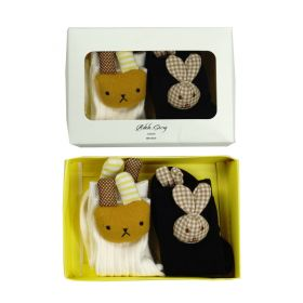 3D socks - White and Black Bunny