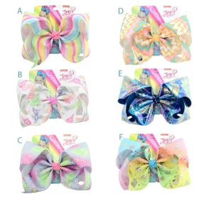 Jojo Siwa Big Bow Colourful Rainbow