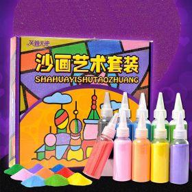 Sand Painting Set dengan 10 Pasir Warna Warni