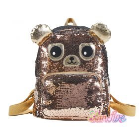 TAS RANSEL SEQUIN GOLD BEAR STARFIVE - SMALL