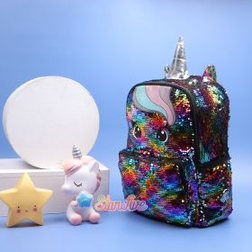 TAS RANSEL SEQUIN UNICORN LARGE STARFIVE - RAINBOW