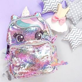 TAS RANSEL SEQUIN UNICORN SMALL STARFIVE - SILVER