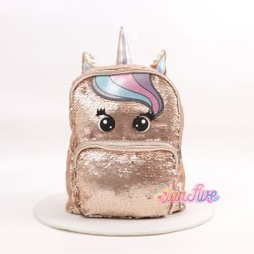 TAS RANSEL SEQUIN GOLD UNICORN STARFIVE - SMALL