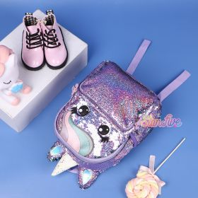 TAS RANSEL SEQUIN UNICORN SMALL STARFIVE - PURPLE