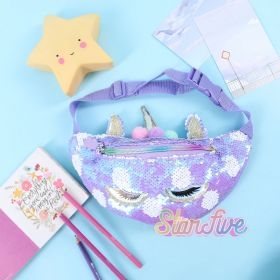 WAIST BAG SEQUIN ANIMAL STARFIVE - UNICORN PURPLE