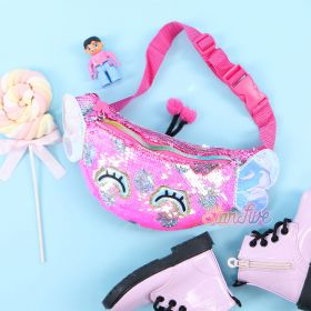 WAIST BAG SEQUIN ANIMAL STARFIVE - BUTTERFLY FUCHSIA