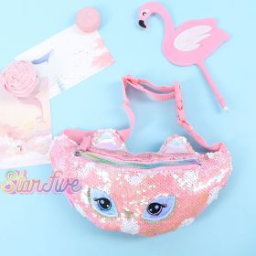 WAIST BAG SEQUIN ANIMAL STARFIVE - OWL PINK